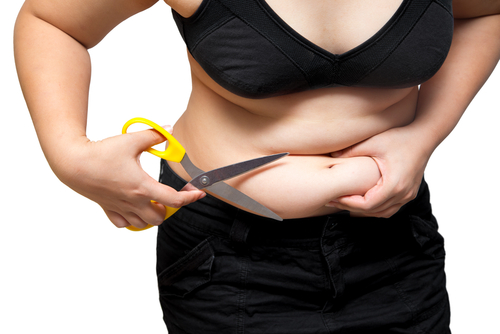 a woman thinking about undergoing bariatrics surgery